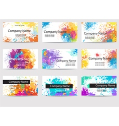 Business cards templates made of paint stains vector