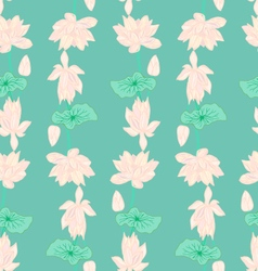 Hand drawn background of beautiful lotus flowers vector