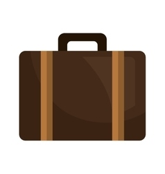 Suitcase bag travel isolated flat icon vector