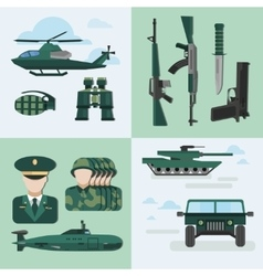 Flat army compositions vector