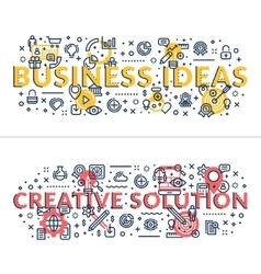Business ideas and creative solution headings vector