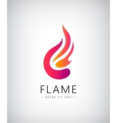 Abstract colorful flame fire logo icon vector