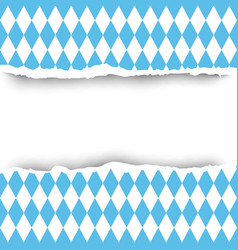Bavaria flag ripped paper seamless pattern vector
