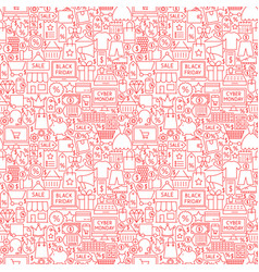 Black friday cyber monday seamless pattern vector