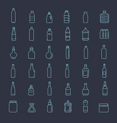 bottle packaging collection - vector image vector image
