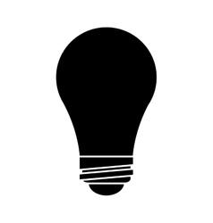 Bulb idea innovation creative silhouette vector