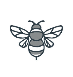 Bumblebee bee icon vector