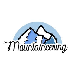 Color vintage mountaineering emblem vector image
