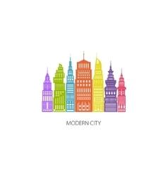 Colorful Big City Emblem vector image vector image