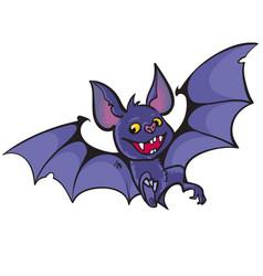 Cute happy vampire bat vector