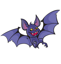 cute happy vampire bat vector image