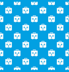 diplomat bag pattern seamless blue vector image vector image