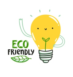 Eco friendly bulb vector image vector image