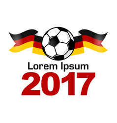 Germany football sport icon emblem vector