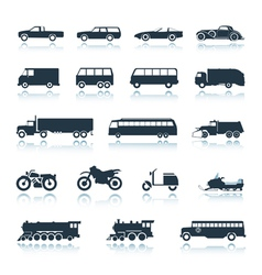 Icon Vehicles vector image vector image
