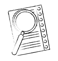 Lupe checking sheet vector