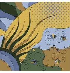 multicolor floral vector image