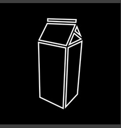package for milk it is icon vector image