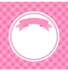 Pink frame for invitation card vector