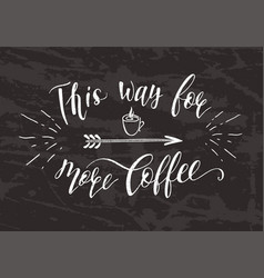 Quote for coffee on the chalk board vector