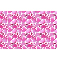 Retro valentine seamless pattern with hearts vector image vector image