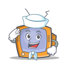 sailor tv character cartoon object vector image