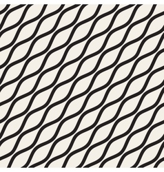 Seamless black and white wavy diagonal vector