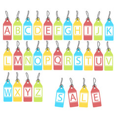 set of bright different letters abstract vector image