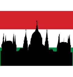 silhouette of budapest vector image vector image