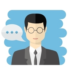 Teacher or businessman avatar vector image