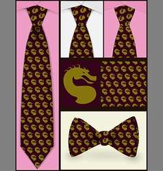 Tie and texture vector image