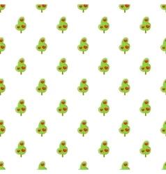 Tree of love pattern cartoon style vector