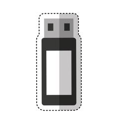usb memory flash icon vector image