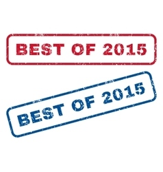 Best Of 2015 Rubber Stamps vector image