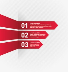 Infographic red ribbon vector