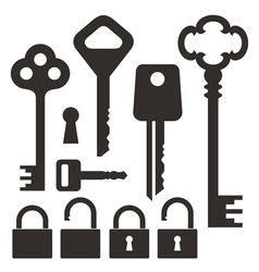 Key Lock vector image