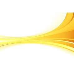 Golden metal wave on a white background vector