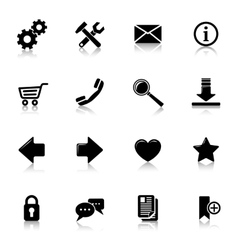Website Icons Black vector image