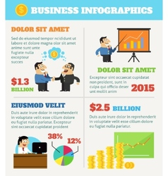 Business life infographics vector