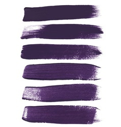 Violet ink brush strokes vector