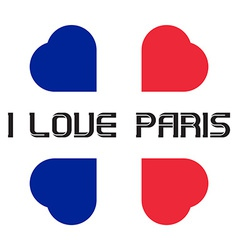 I love paris t-shirt templates with hearts vector