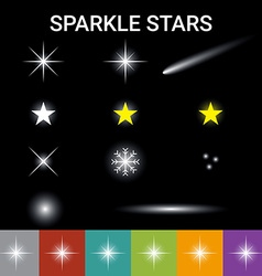 Sparkle stars effect vector