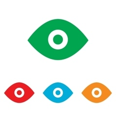 Eye sign colorfull set vector