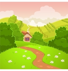 Cartoon nature country landscape vector image