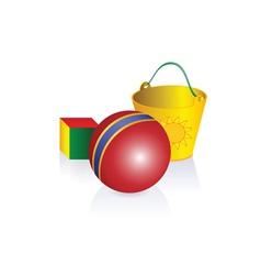 Cartoon toys vector image