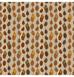Seamless coffee texture vector