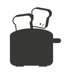 Electric toaster isolated icon design vector