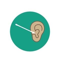 Adults ear care vector