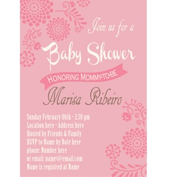 Baby-shower round-flowers vector