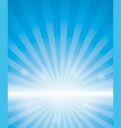 Blue background with sunburst vector